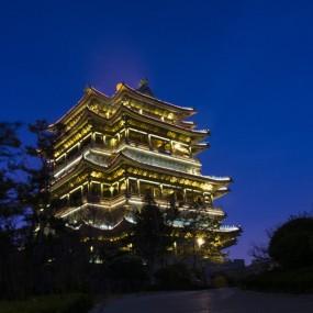 威海环翠楼照明工程-景观亮化