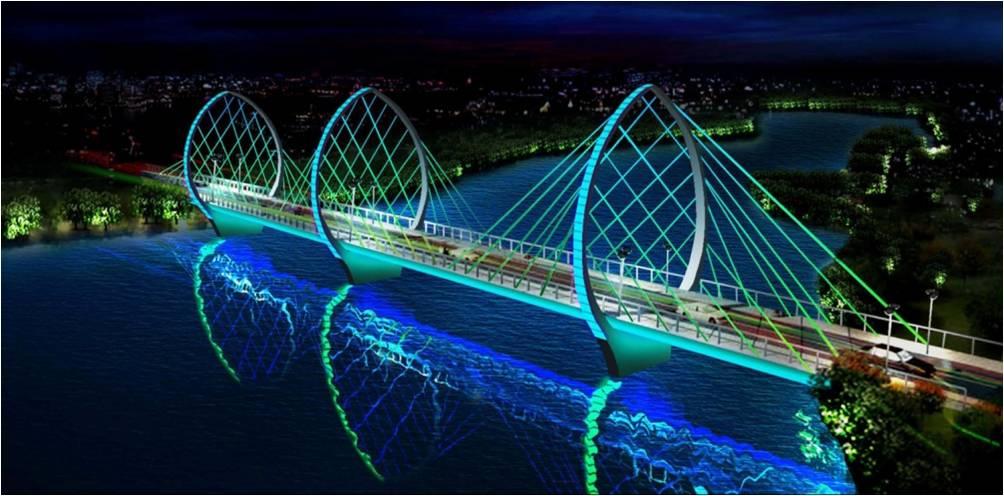 章丘市绣源河-景观照明工程