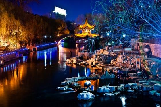 济南环城河夜景