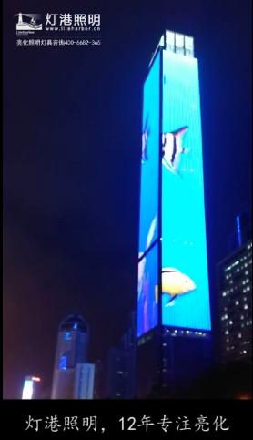 山西城市酒店桥梁户外大功率led线条灯led洗墙灯led投光灯夜景亮化-灯港照明